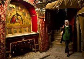 La gruta de la Iglesia de la Natividad en Belén, sitio que marca según la tradición el lugar exacto del nacimiento de Cristo. (Foto: AP)