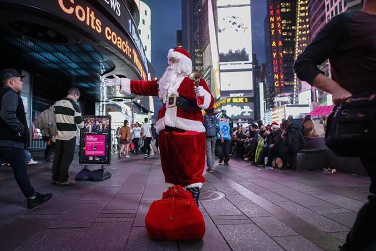Nueva York registró récord de calor esta Nochebuena. (Foto Prensa Libre: AFP).
