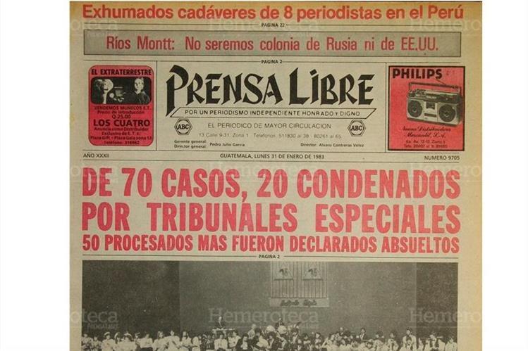 Portada del 31/01/1983 daba a conocer los resultados de los tribunales de fuero especial. (Foto: Hemeroteca PL)