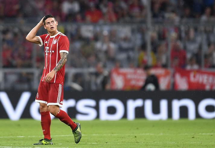 El delantero colombiano James Rodríguez espera recuperarse pronto para poder debutar en la liga alemana. (Foto Prensa Libre: AFP)