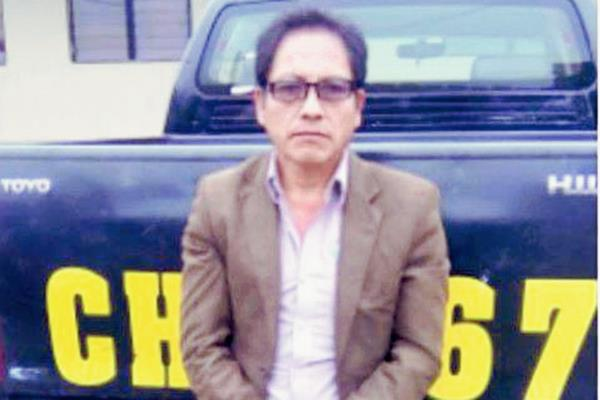 José Pecher  fue capturado en la zona 2 de Chimaltenango, señalado de caso especial de estafa. (Foto Prensa Libre: MP)