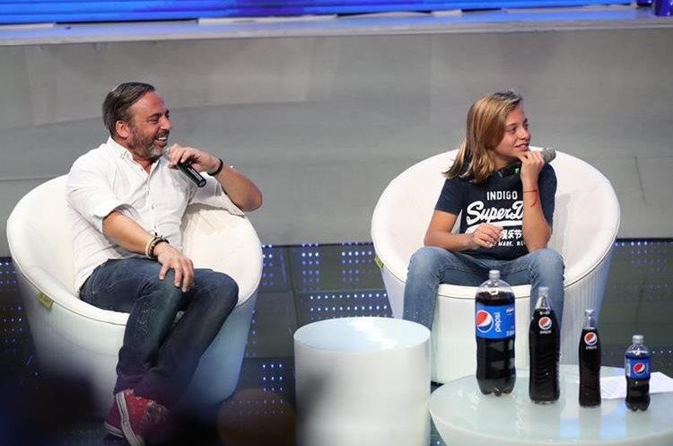 Marcos Llunas e Izan Llunas, ambos cantantes (Foto Prensa Libre: José A. Ochoa).
