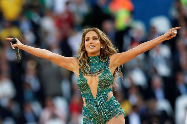 <p>Jennifer López, durante la inauguración del Mundial Brasil 2014. (Foto Prensa Libre: AP)<br></p>