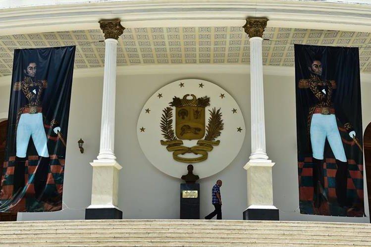 Vista de la Asamblea Nacional de Venezuela, de mayoría opositora. (Foto Prensa Libre: EFE).