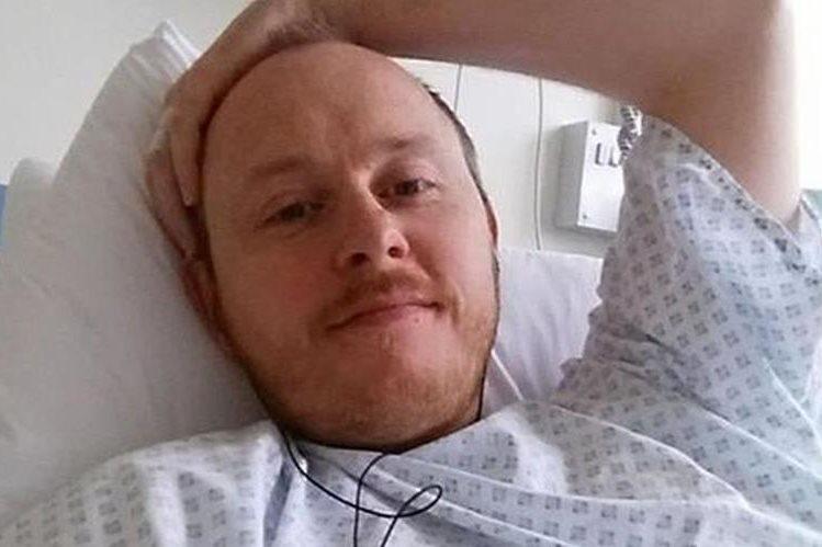David Baldwin tiene pérdida de líquido cefalorraquídeo desde hace cuatro años.