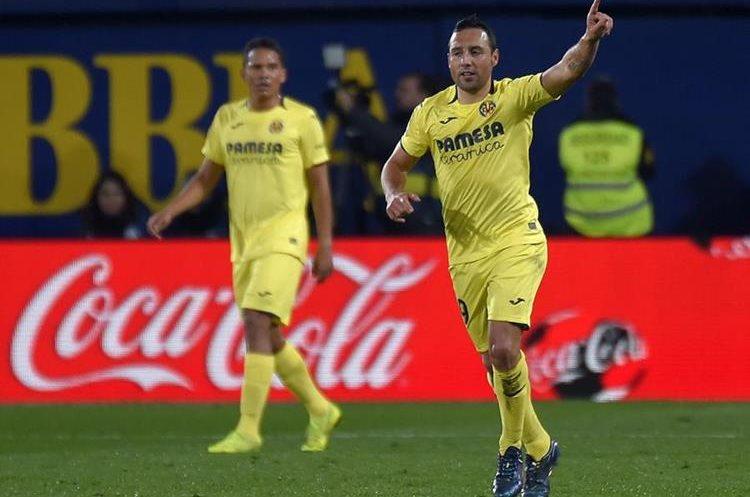 Con un doblete de Santi Cazorla el Villarreal consiguió un punto contra el Real Madrid. (Foto Prensa Libre: AFP)