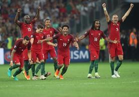 Portugal no ha ganado un partido en la Euro pero está plantado en semifinales. (Foto Prensa Libre: EFE)