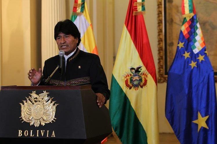 El presidente de Bolivia, Evo Morales. (Foto Prensa Libre: EFE).