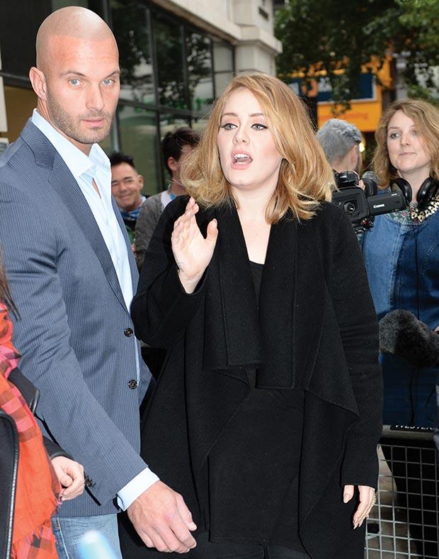 Adele realiza su gira por Estados Unidos y su guardaespaldas la acompaña a todos lados. (Foto Prensa Libre: Hemeroteca PL)