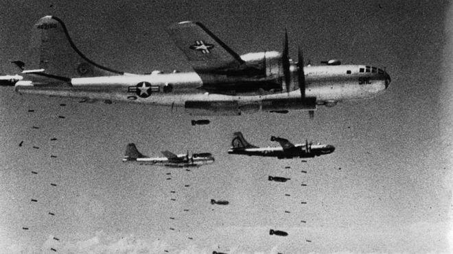 Los bombarderos B-29 y B-52 se convirtieron en la pesadilla de la población civil norcoreana. KEYSTONE/GETTY
