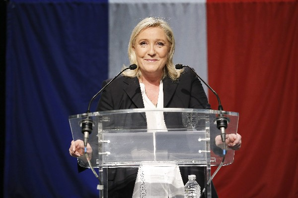 El partido Frente Nacional dirigido por Marine Le Pen.