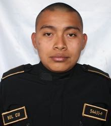 Mynor Alexander Bol Cu, 26, agente fallecido. (Foto: PNC)