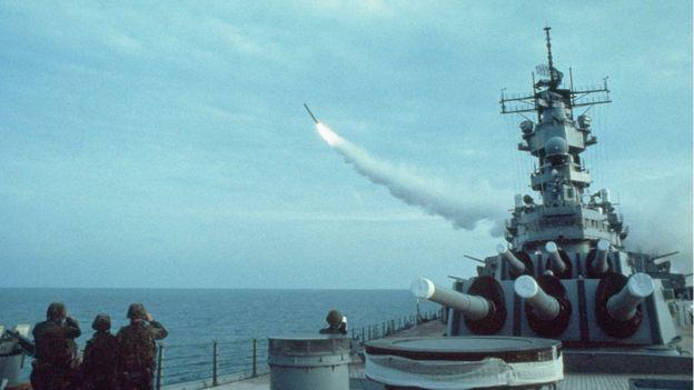 Estados Unidos usó por primera vez los Tomahawk durante la operación Tormenta del Desierto, en 1991. GETTY IMAGES