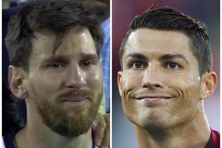 Las comparaciones entre Messi y Cristiano no faltaron en los memes. (Foto Prensa Libre: Twitter)