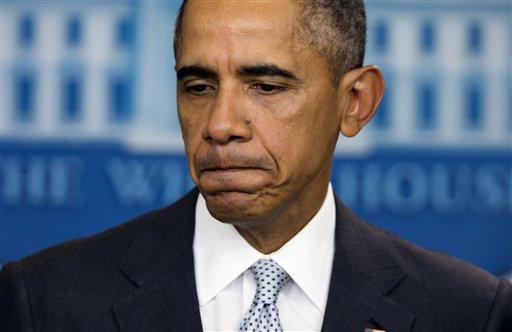 Obama, el viernes último durante la conferencia de prensa donde condenó los atentados. (Foto Prensa Libre: AP).