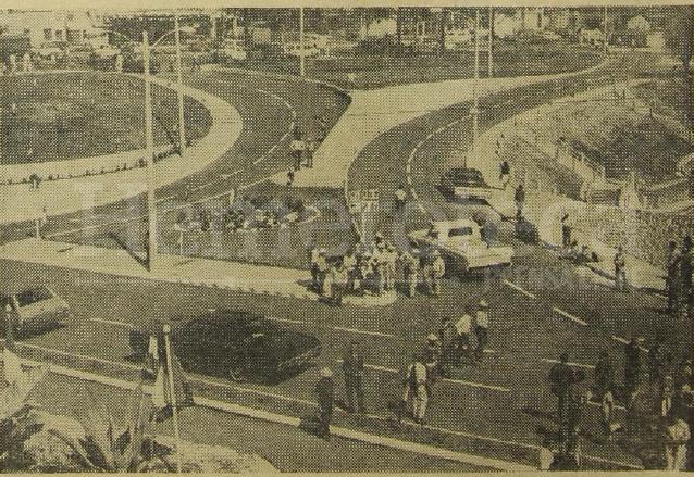 Vista de la obra del viaducto de la 24 calle el día de su inauguración en 1971. (Foto: Hemeroteca PL)