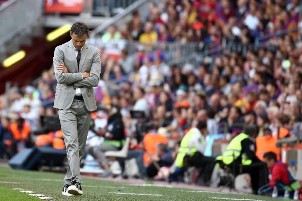 Luis Enrique mostró sentimientos encontrados en el duelo contra el Éibar. (Foto Prensa Libre: EFE)