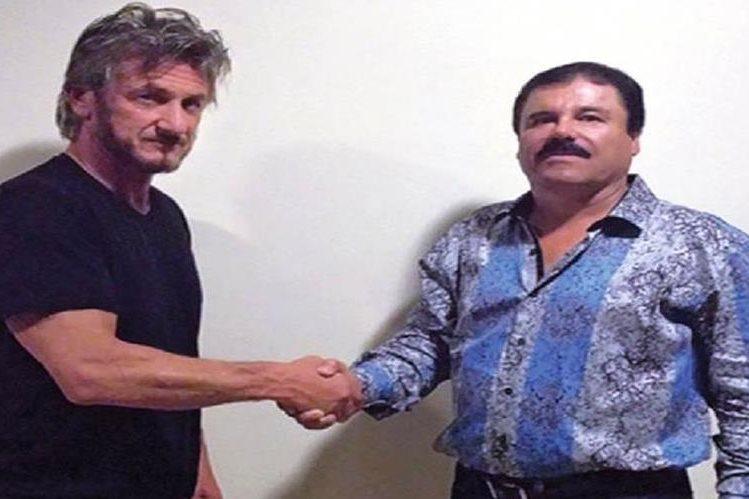 """el encuentro entre el actor Sean Penn y Joaquín """"el Chapo"""" Guzmán."""