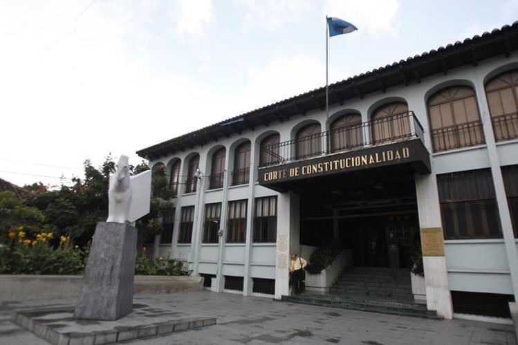 Fachada de la Corte de Constitucionalidad. (Foto Prensa Libre: Paulo Raquec)