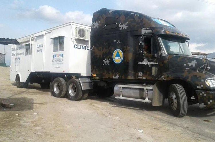 Las personas contarán con una clínica móvil del Ejército de Guatemala.