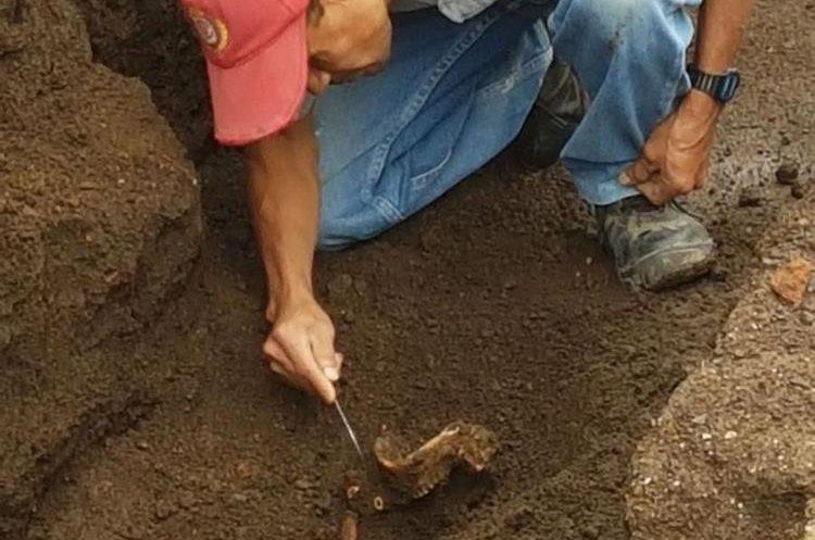 Búsqueda de los restos humanos en Santa Catarina Bobadilla, Antigua. (Foto: Carlos García)