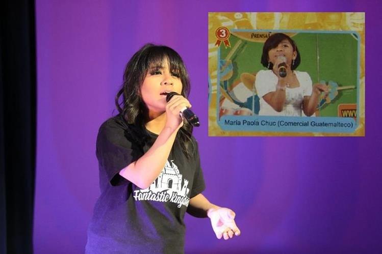 En los años 2007 y 2008 Paola Chuc participó en el concurso musical Talent Kids, de Revista Chicos de Prensa Libre. (Foto Prensa Libre: Facebook y HemerotecaPL)