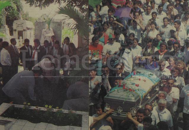 A la izquierda, los restos de Árbenz son exhumados del Cementerio de San Salvador. Derecha: Manifestación popular lleva el féretro de Árbenz en 1995 a su retorno al país. (Foto: Hemeroteca PL)