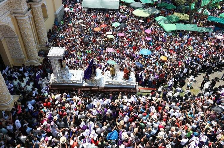 María, Madre de Dios, acompañó el cortejo de la Reseña. (Foto Prensa Libre: Renato Melgar)