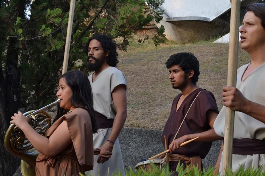 """Obra """"Las Troyanas"""". (Foto Prensa Libre, tomada del FB del X Festival Nacional de Teatro)."""