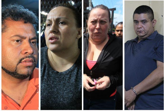 Capturados por muerte de Byron Lima y otros reos, en un crimen ocurrido el 18 de julio del año pasado en la cárcel Pavón. (Foto Prensa Libre: Estuardo Paredes)