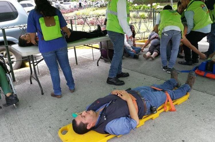 Brigadistas de la comuna participan en simulacro