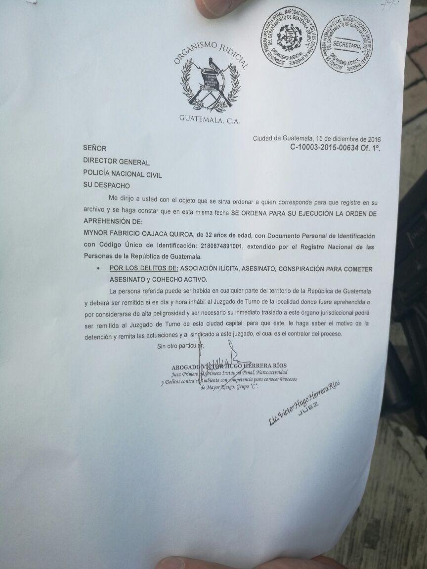 Juzgado de Mayor Riesgo C, giró la orden de captura contra el jefe de la estructural criminal integrada por policías, un fiscal y civiles. (Foto Prensa Libre: Byron Vásquez)