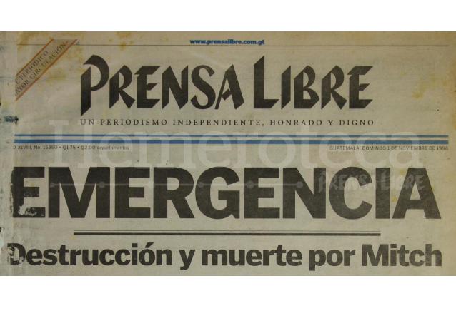 Emergencia por Tormenta Stan, publicada en 1998. (Foto: Hemeroteca PL)