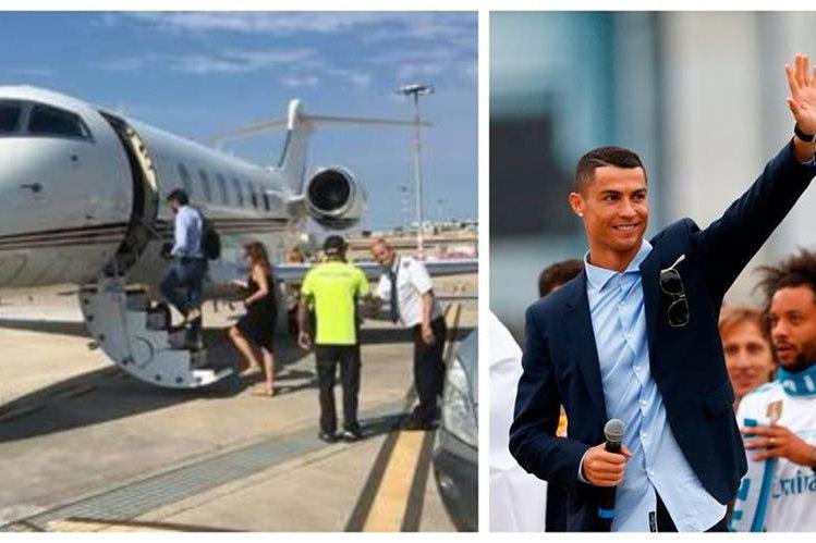 Cristiano Ronaldo se estaría reuniendo con el presidente de la Juventus. (Foto Prensa Libre: @Gazzetta_it y Hemeroteca PL)