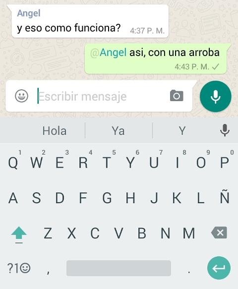 """Solo hay que poner una """"@"""" y seleccionar un nombre  para que WhatsApp mencione a usuarios en los grupos. (Foto: Hemeroteca PL)."""