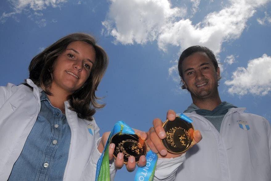 Jason Hess e Irene Abascal, medalla de oro en Toronto 2015, buscan una plaza olímpica. (Foto Prensa Libre: Hemeroteca PL)