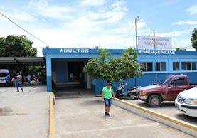 Hospital donde se registró el deceso de la mujer embarazada. (Foto Prensa Libre: Mario Morales).