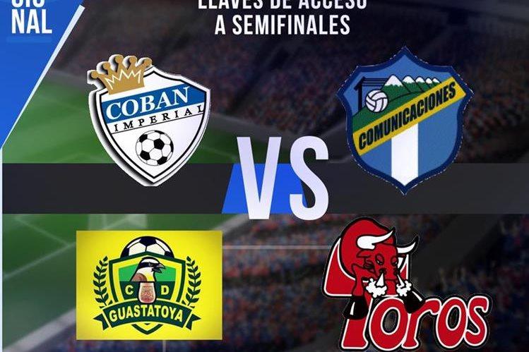 Así quedaron definidas las llaves de acceso de semifinal. (Foto Prensa Libre: Hemeroteca PL)