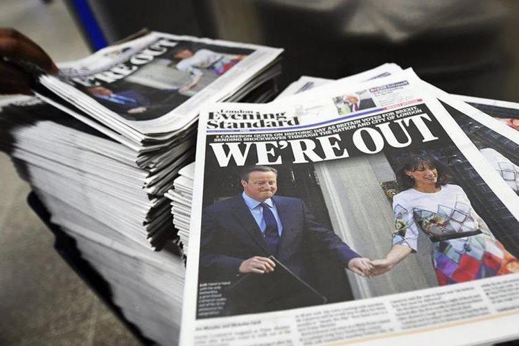 """El Reino Unido asimila el """"brexit"""" entre presiones para iniciar la salida. (Foto Prensa Libre: EFE)."""