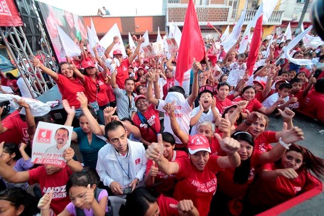 Simpatizantes de Líder han manifestado a favor del partido, aunque luego dela derrota en elecciones no se han pronunciado. (Foto Prensa Libre: Hemeroteca PL)