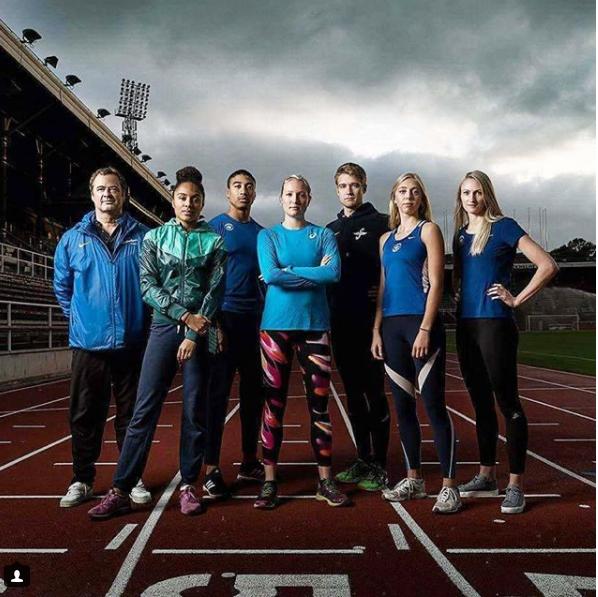 La campeona sueca de 400 metros planos, Moa Hjelmer, al centro, denunció que fue víctima de violación hace seis años (Foto Prensa Libre: tomada de Instagram)