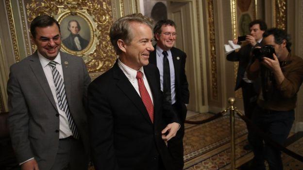 El senador republicano Rand Paul se opne al aumento de gato y deuda contemplado por el acuerdo. GETTY IMAGES