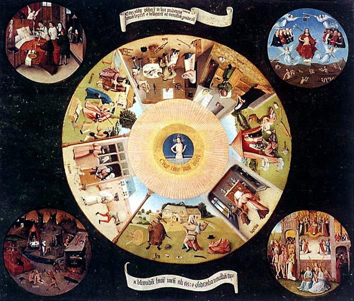 La mesa de los pecados capitales, de El Bosco. (Foto Prensa Libre: Hemeroteca PL)