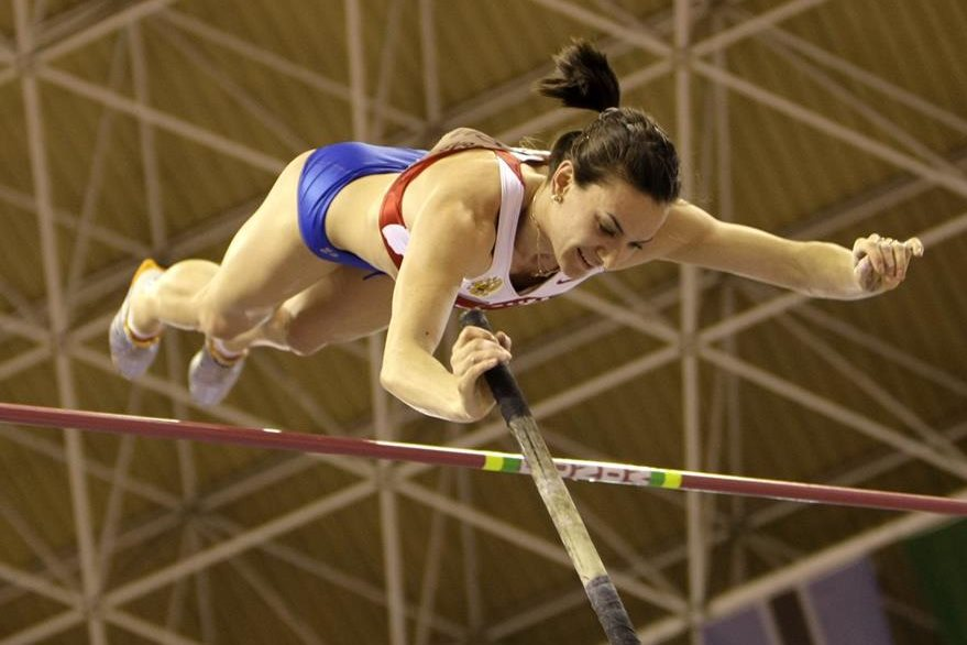 Yelena durante su participación en el Campeonato Mundial de Valencia en 2008. (Foto: AP)