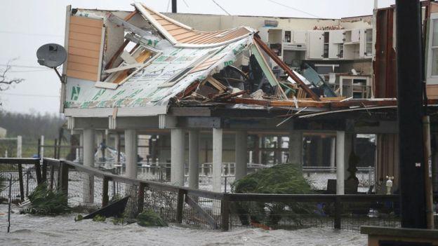 Los daños causados por Harvey en Houston se debieron principalmente a sus grandes precipitaciones. JOE RAEDLE/GETTY IMAGES