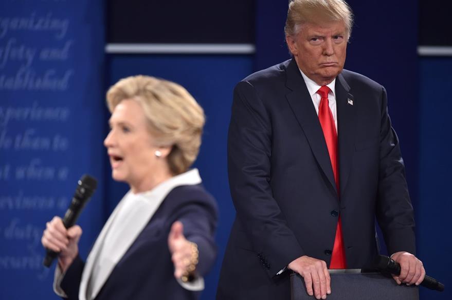 Debate entre Hillary Clinton y Donald Trump. (AFP)