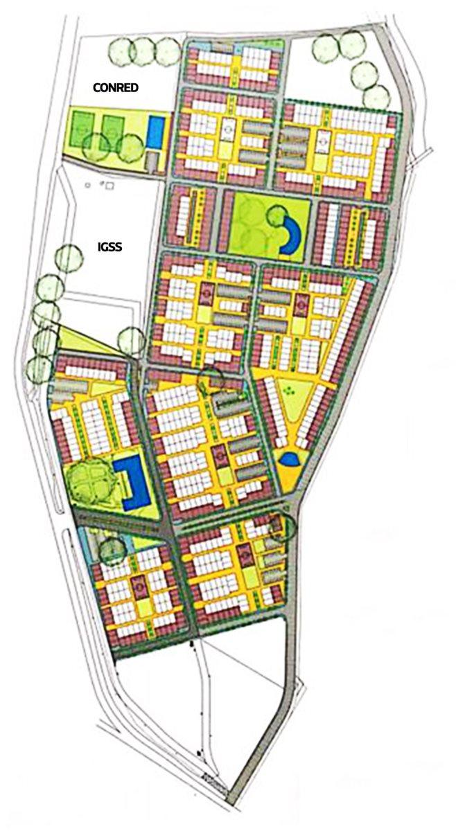Así será urbanizada la finca La Industria, Escuintla, donde se creará la colonia Dignidad.