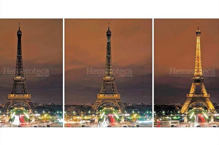 La torre Eiffel en París, Francia, luce en penumbra para unirse a la campaña sobre el calentamiento global, el 30/3/2012. (Foto: hemeroteca PL)