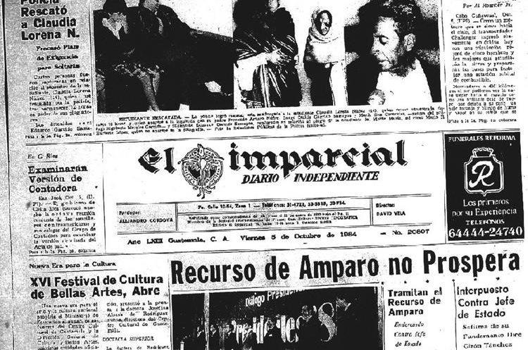5/10/1984 Portada de el diario El Imparcial. (Foto: Hemeroteca PL)