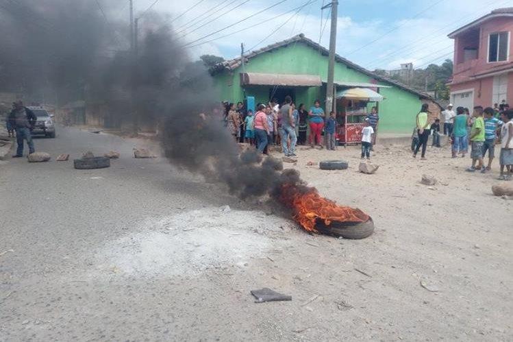 Lugar de la protesta en la cabecera de Jutiapa. (Foto Prensa Libre: Óscar González).